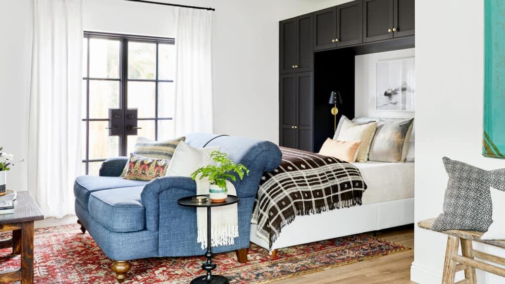 The Crhacienda Casita Guest House bedroom suite