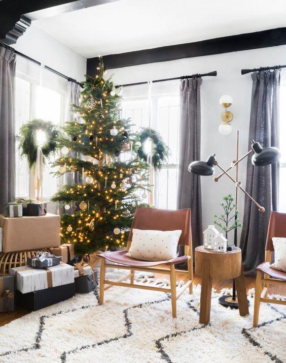 Monochromatic Holiday Decorating