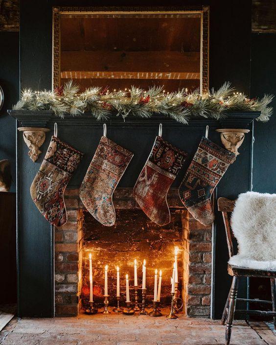 Frances Loom Vintage Rug Stockings