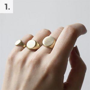 Minimal Brass Signet Rings