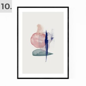 Abstract Water Color Print