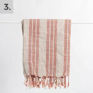 Striped Linen Turkish Towel