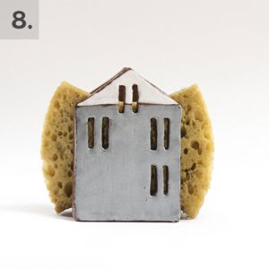 Ceramic House Sponge Holder