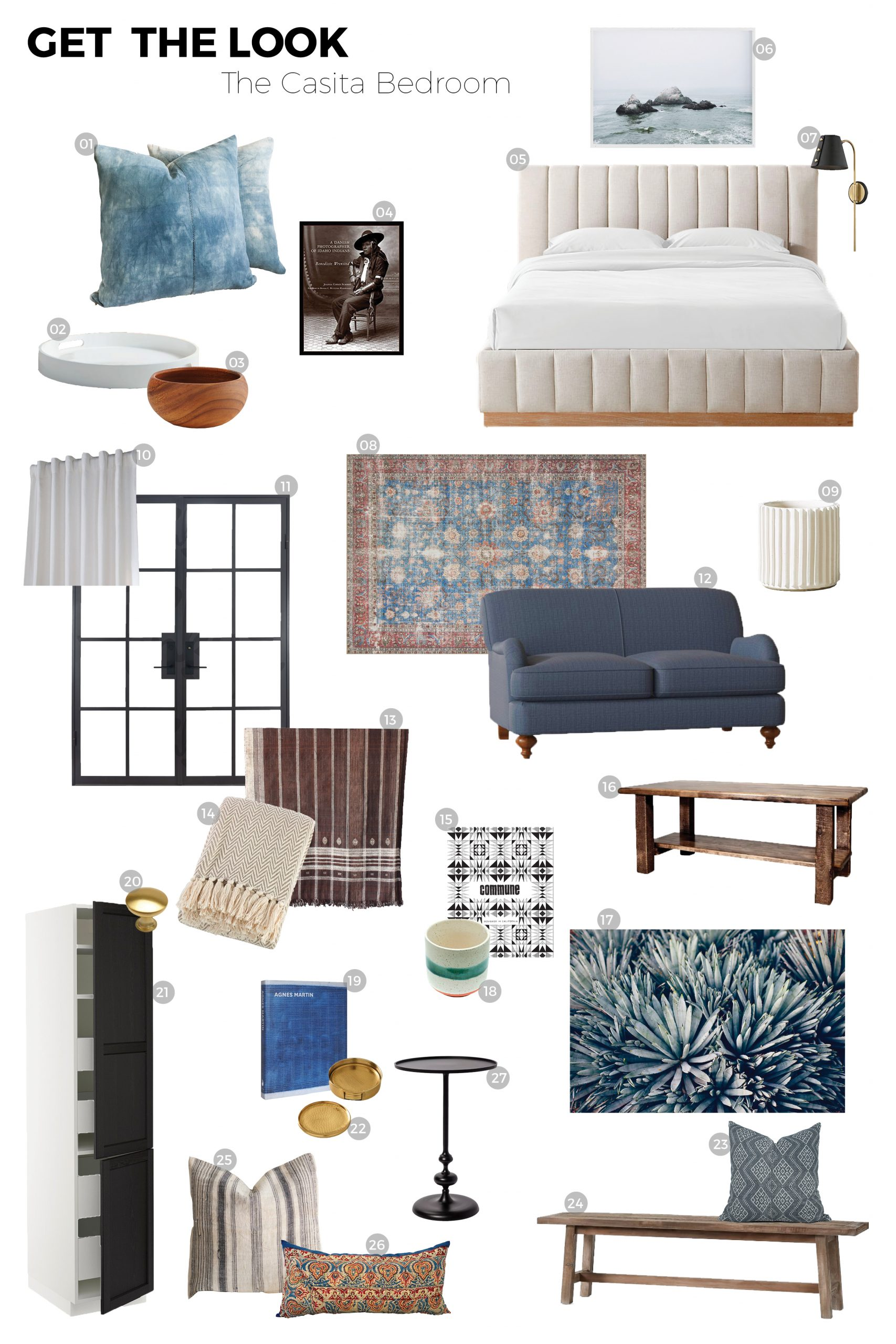 Get The Look + Casita Bedroom Sources