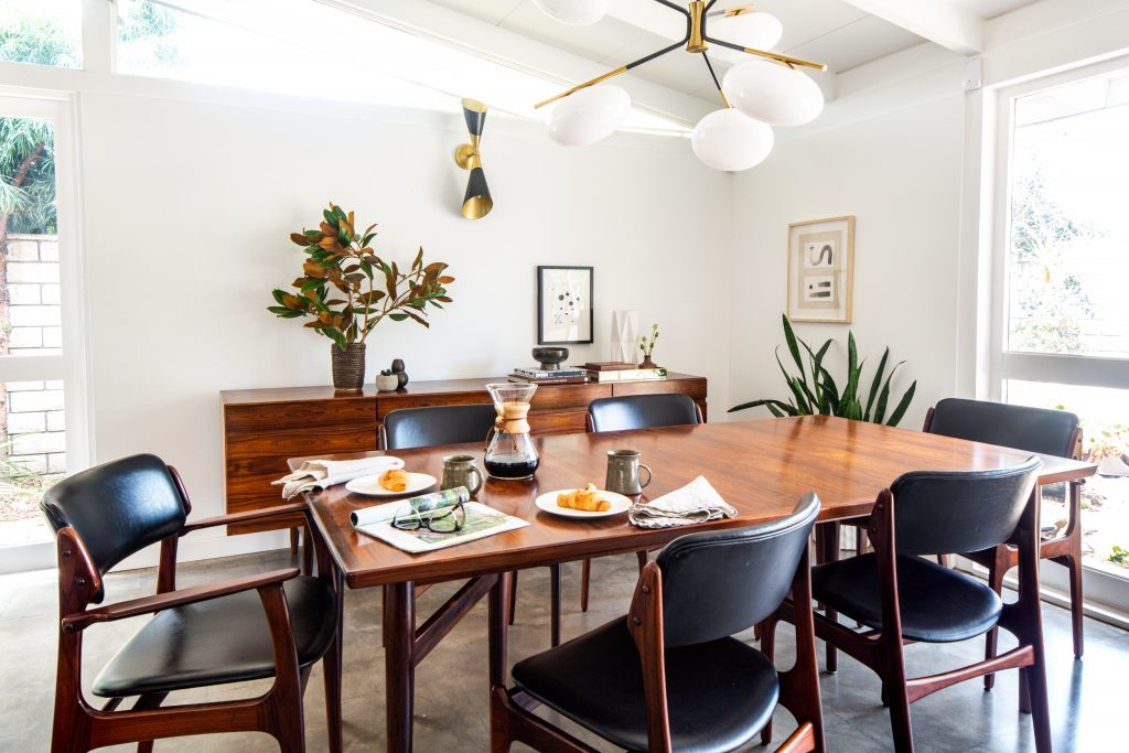 Midcentury Modern Dining Room Wrensted Interiors