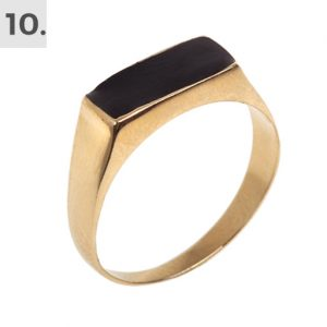 Gold Ring Ceramic Inlay