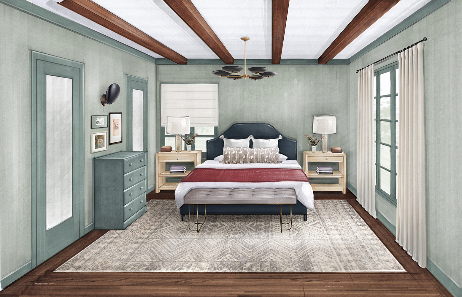 Bedroom Concept Rendering