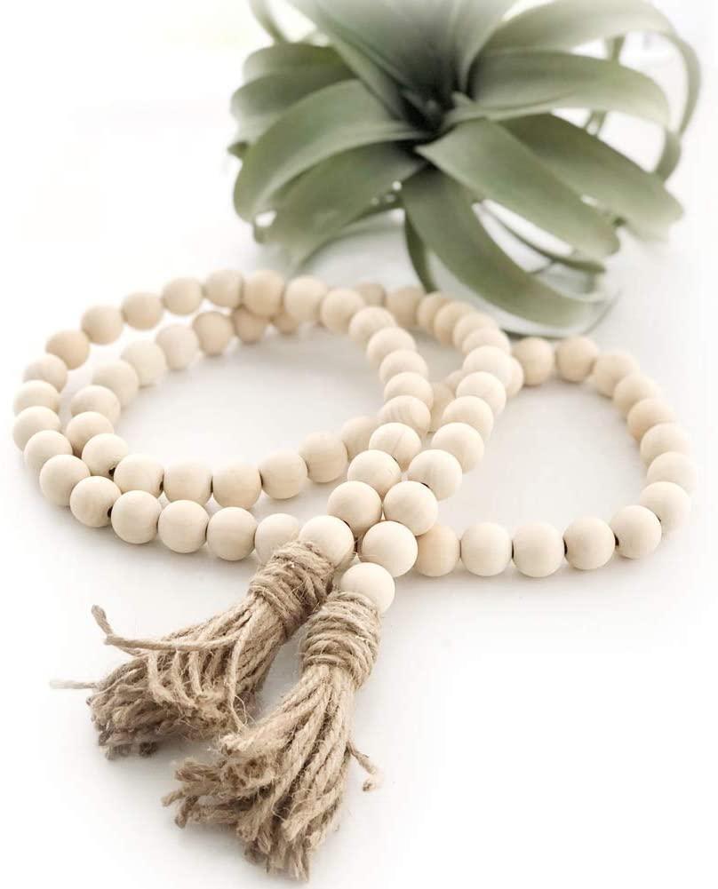 textured wood beads