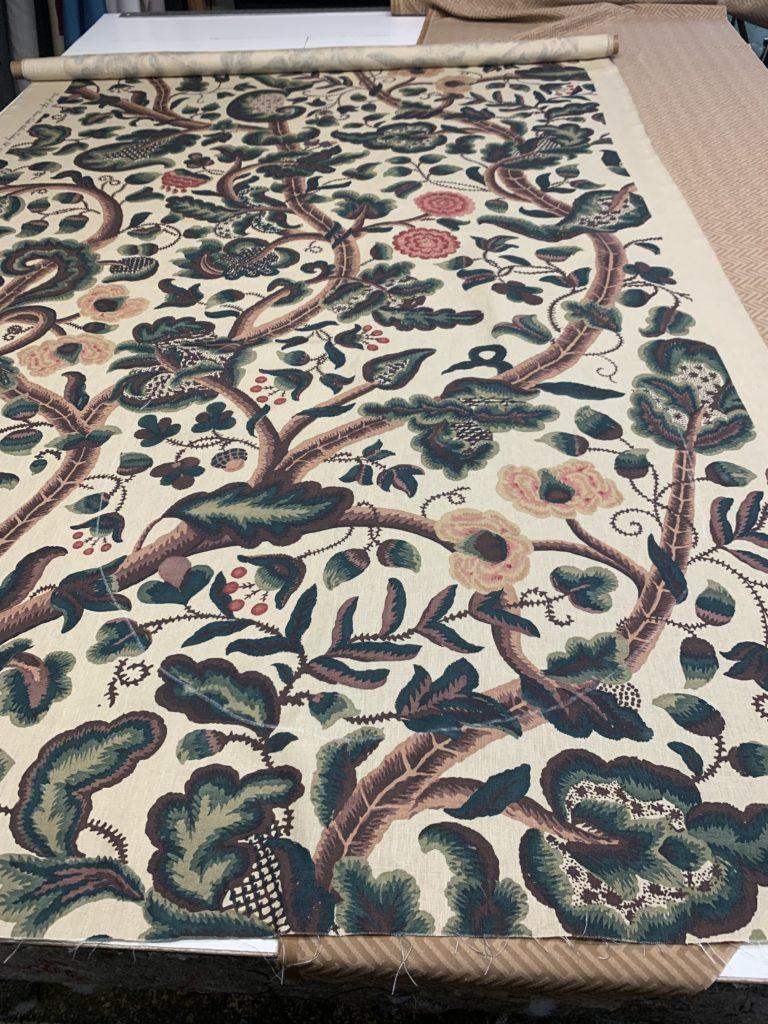 Custom Ottoman Fabric